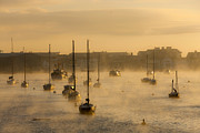  Southwest Harbor Prints - Misty morning. Print by Sebastian Wasek