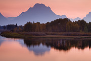 Lake Sunset Photos - Misty Mountain Reflection by Andrew Soundarajan