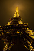 Grate Posters - Misty Night at Eiffel Poster by Evie Carrier