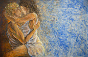 Lovers Paintings - Misty Romance by Nik Helbig