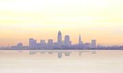Misty Sunrise In Cleveland Print by Kitty Ellis