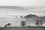 Culm Framed Prints - Misty view Framed Print by Pete Hemington
