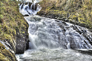 North Wales Photos - Misty Water Fall by Rob Guiver