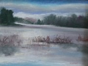 Misty Waters Print by Linda Dessaint