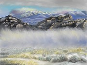 Rocky Pastels - Misty Winter Morning by Dawn Senior-Trask