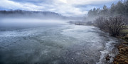 Frozen Lake Photos - Misty Winter Morning on Lake by Thomas R Fletcher