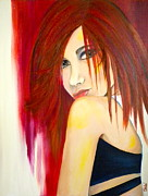 Redhead Mixed Media - Misunderstood by Debi Pople