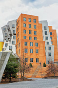 Skewed Framed Prints - MIT Stata Center designed by Frank Gehry Framed Print by Marianne Campolongo