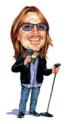 Caricatures Paintings - Mitch Hedberg by Art