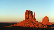 Navajo Prints - Mitten Buttes at Sunset Print by Jane Rix