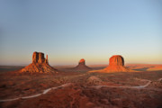 Famous Americans Posters - Mittens and Merrick Butte Monument Valley Poster by Christine Till