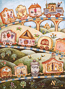Jerusalem Paintings - Mitzvah Train - Jewish Months by Michoel Muchnik