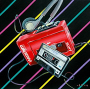 Retro Paintings - Mix Tape by Anthony Mezza