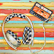 Headphones Framed Prints - Mix Tape Framed Print by Danny Phillips