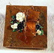 Copper Sculpture Sculptures - Mixed Media Flower Garden by P Russell