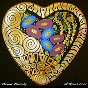 Pattern Ceramics - Mixed Melody by Dorinda K Skains