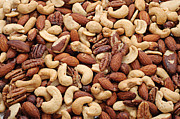 Almonds Prints - Mixed Nuts Print by Andee Photography