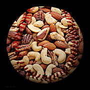 Mixed Nuts Baseball Square Print by Andee Photography