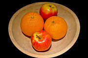 Wooden Bowl Prints - Mixing Apples and Oranges Print by Paul Mashburn