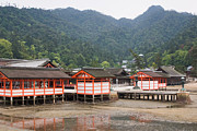 Shrine Island Prints - Miyajima Shrine Print by Ei Katsumata