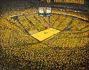 Basketball Paintings - Mizzou Arena by Terry  Hester