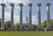 Francis Metal Prints - Mizzou Jesse Hall and Columns Metal Print by Kay Pickens