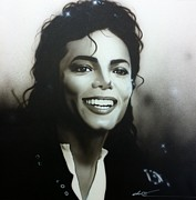 Michael Jackson Prints - m.j. Print by Christian Chapman Art