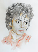 Mj Painting Posters - Mj Poster by Courtney James