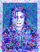Mj Floral Version 2 Print by MB Art factory