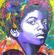 Mj Mixed Media Framed Prints - Mj Framed Print by Jonathan Tyson
