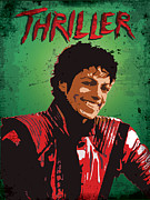 1980 Digital Art Prints - MJ-Thriller Print by Lee Wolf Winter
