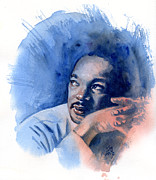 Civil Rights Painting Posters - MLK Day Poster by Ken Meyer jr