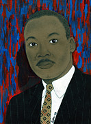 President Obama Mixed Media Prints - Mlk Print by Delvon