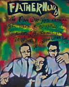 Martin Luther King Jr. Paintings - Mlk Fatherhood 1  by Tony B Conscious