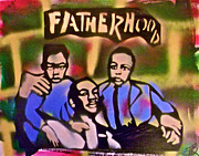 Stencil Art Paintings - Mlk Fatherhood 2 by Tony B Conscious