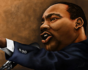 Martin Luther King Jr Digital Art Posters - Mlk Poster by Letora Anderson