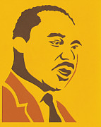 Martin Luther King Mixed Media Posters - Mlk Poster by Nicholas Heilig