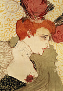 Red Drawings Prints - Mlle Marcelle Lender Print by Henri de Toulouse-Lautrec