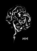 Marilyn Monroe Digital Art - Mm by Stefan Kuhn