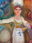 Stage Painting Originals - Mme.Zulma Bouffar by Judith Desrosiers