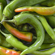 Hot Peppers Prints - Mmmmm Hatch Chilies Print by Loree Johnson