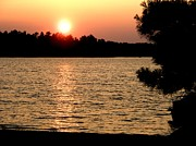 Bridget Johnson Metal Prints - MN Sunset Metal Print by Bridget Johnson