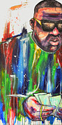 Biggie Framed Prints - Mo Money Mo Abstract Framed Print by Chuck Styles