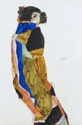 Schiele Framed Prints - Moa - The Dancer Framed Print by Pg Reproductions