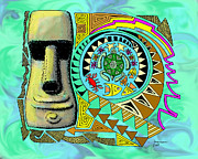 Aaron Bodtcher - Moai and Turtle - Circle...