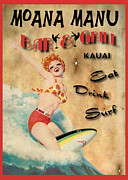 Retro Pinup Prints - Moana Manu Print by Cinema Photography