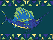 Hawaiian Fish Digital Art Prints - Moana Ola 8 Print by Douglas Fischer