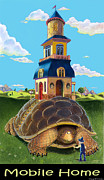 Nursery Rhymes Posters - Mobile Home Poster by J L Meadows
