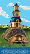 Nursery Rhyme Mixed Media Posters - Mobile Home With Whimsical Poem Poster by J L Meadows