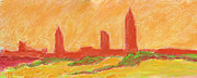 Gloaming Originals - Mobile Skyline Early Summer Morning by Vernon Reinike
